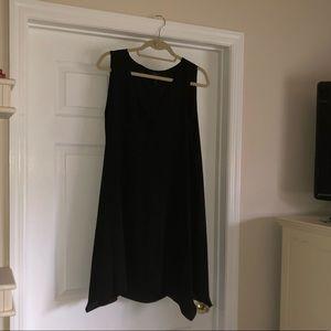 BCBGMAXAZRIA Black Dress with Lace Detail